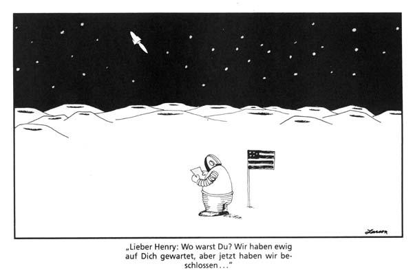 Mannauf dem Mond